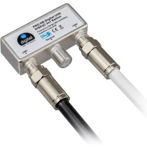 Sat connection cable CCS HQ-135 with F-compression plugs nickel-plated BLACK 2m