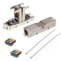 Netzwerkkabel Verbinder LSA Anschluss LAN Kabel Verbinder CAT 6 Outdoor SCHWARZ