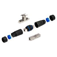 Network Cable Connector LSA Connector LAN Cable Connector CAT 6 Outdoor BLACK