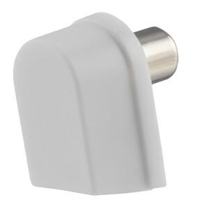 Winkel IEC-Stecker, Schraubanschluß, Kunststoffgehäuse