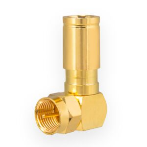 Kompression F-Winkelstecker für Koaxkabel Ø 6,8 - 7,2 mm vergoldet