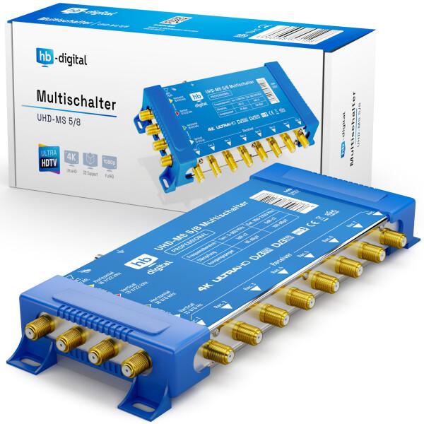 Multischalter SAT hb-digital UHD-MS 5/8 bis zu 8 Teilnehmer