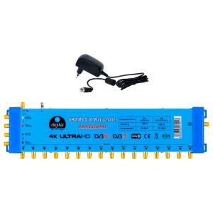 Multischalter SAT hb-digital UHD-MS 5/16 bis zu 16...
