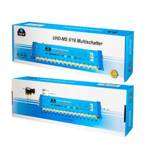 Multischalter SAT hb-digital UHD-MS 5/16 bis zu 16 Teilnehmer