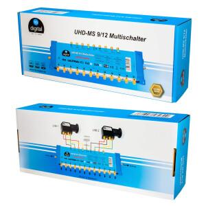 Multischalter SAT hb-digital UHD-MS 9/12 bis zu 12 Teilnehmer